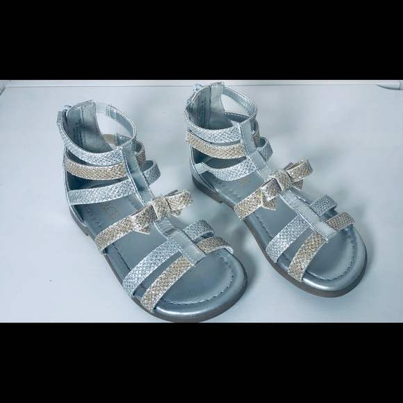 Silver And Gold Sandals By Childrens
